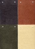 Suede: four genuine samples Stock Photography