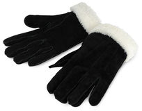 Suede gloves Royalty Free Stock Photos