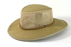 Suede Hat. A wide brim safari type hat stock images