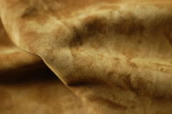 Suede Leather. Studio shoot of brown suede leather Royalty Free Stock Photo