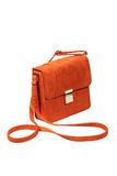 Suede leather handbag Royalty Free Stock Photography