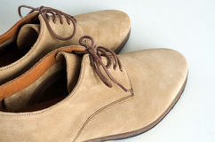 Suede Leather Shoes Royalty Free Stock Photography