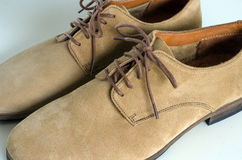 Suede Leather Shoes. A Pair of Brown Suede Leather Shoes Royalty Free Stock Images