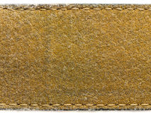Suede leather stitch Stock Image