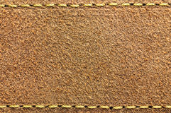 Suede leather with stitch on edges Royalty Free Stock Photo