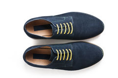 Suede men's shoes Royalty Free Stock Photography