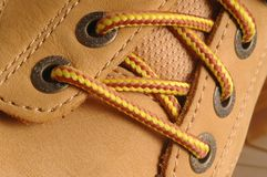 Suede shoe detail Stock Images