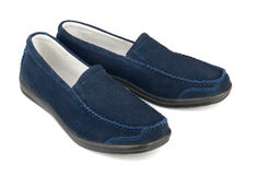 Suede shoes Stock Photography
