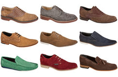 Suede shoes Royalty Free Stock Photography