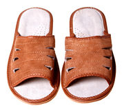 Suede slippers Stock Images