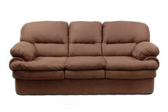 Suede sofa. A sofa on a plain wight background stock images