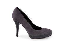 Suede stiletto shoe Royalty Free Stock Photo