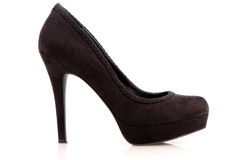 Suede stiletto shoe Royalty Free Stock Photography