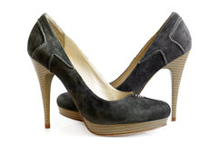 Suede women shoes Royalty Free Stock Photography