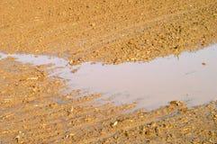Suelo agrícola mojado Imagen de archivo libre de regalías