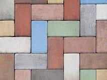 Suelo coloreado Foto de archivo libre de regalías