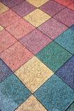 suelo de baldosas coloreado en la calle Fotografía de archivo