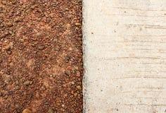 Suelo de Brown y textura y fondo concretos Fotografía de archivo