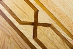 Suelo de entarimado de la madera dura con el modelo Fotografía de archivo