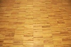 Suelo de la gimnasia de la madera dura Imagen de archivo