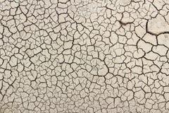 Suelo de la grieta en la estación seca Foto de archivo