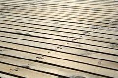 Suelo de madera Foto de archivo libre de regalías