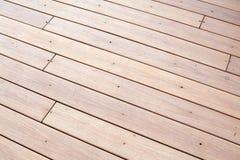 Suelo de madera al aire libre Foto de archivo libre de regalías