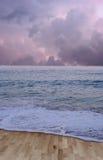 Suelo de mar de madera Fotos de archivo libres de regalías
