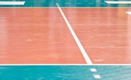 Suelo del voleibol Foto de archivo libre de regalías
