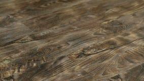 Suelo laminado en la resolución 4K Textura de los paneles de piso decorativos metrajes