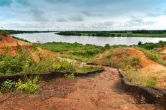 Suelo rojo del gongoni, Benga del oeste, la India Fotos de archivo