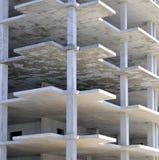 Suelos del edificio no terminado imagenes de archivo