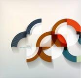 Suena el fondo abstracto de las formas geométricas Foto de archivo