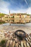 Suene en el soane del muelle en la ciudad de Lyon Fotografía de archivo libre de regalías