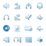 Suene los iconos del Web, serie azul Imagen de archivo
