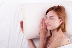 Sueño bueno y de la salud Fotos de archivo libres de regalías
