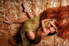 Sueño de la mujer Imagen de archivo