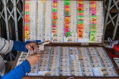 Suerte del juego de la lotería de la lotería de Tailandia Fotografía de archivo