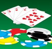Suerte del póker Imagen de archivo