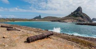Sueste strand Fernando de Noronha Island Arkivfoton