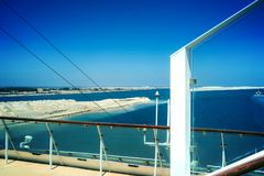 The Suez Canal and the in August 2015 newly opened expansion can Stock Photo