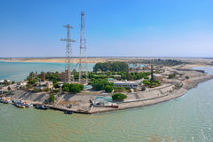 Suez canal, Egypt Royalty Free Stock Photos