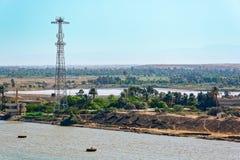 Suez canal, Egypt Stock Photo