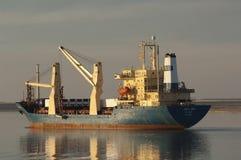 SUEZ CANAL/EGYPT - 3 JANUARI 2007 - het Algemene Vrachtschip San Stock Afbeelding