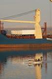 SUEZ CANAL/EGYPT - 3 JANUARI 2007 - het Algemene Vrachtschip San Stock Afbeeldingen