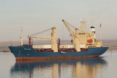 SUEZ CANAL/EGYPT - 3rd JANUARY 2007 - The General Cargo Ship San Royalty Free Stock Images
