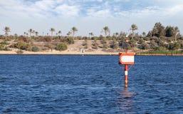 Suez canal marks Royalty Free Stock Photos