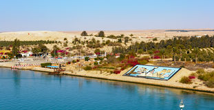 Suez Canal shore Royalty Free Stock Photo