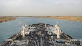Suez, Egypt - Oil tanker passing through the Suez Canal.