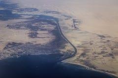 Suez-Kanal Lizenzfreies Stockfoto